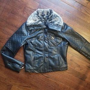 Black, Leather, Moto Jacket medium